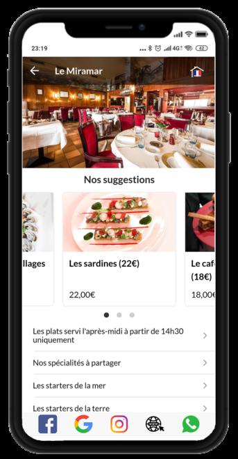 Votre Carte accessible pour vos clients, sans application et dans leurs langues favorites.